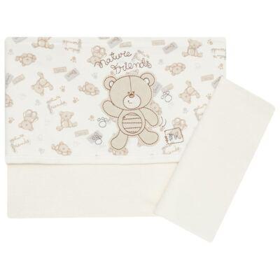 Imagem 1 do produto Jogo de lençol para carrinho em malha  Nature Baby Bear - Classic for Baby