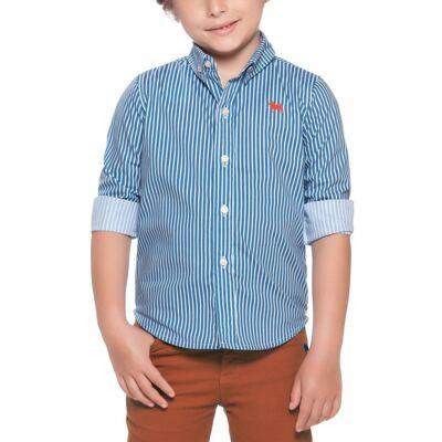 Imagem 2 do produto Camisa em tricoline Azul - Charpey