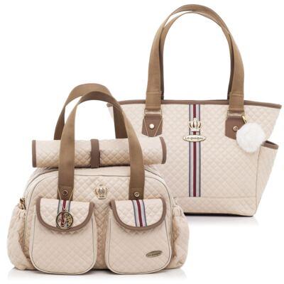 Imagem 1 do produto Bolsa maternidade + Sacola New Monarchy Macadâmia - Lequiqui