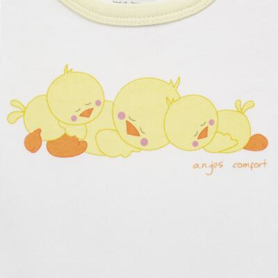 Imagem 3 do produto Pijama longo para bebe em suedine Piu Piu - Anjos Baby - AB1759006.004 PIJAMA BABY SUEDINE FEM PIU PIU T06-P
