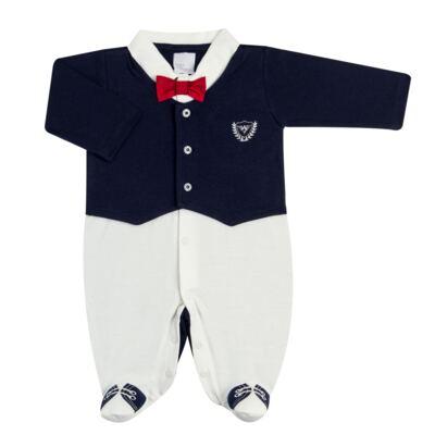 Imagem 2 do produto Jogo Maternidade: Macacão Casaco + 2 Gravatas Borboleta + Manta em suedine Lord - Anjos Baby - AB163653M KIT MACACAO MANTA CHIC-RN