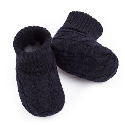 Imagem 3 do produto Botinha para bebe em tricot trançado Marinho - Mini Sailor