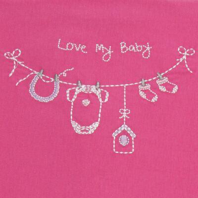 Imagem 2 do produto Jogo de lençol para carrinho em malha Clothes Girl - Classic for Baby