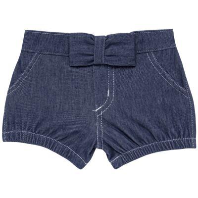 Imagem 1 do produto Short c/ Laço para bebe em fleece Basic Denim - Mini & Kids - SLB1632 SHORTS C/ LAÇO FLEECE FAZENDA-VERDE-GG