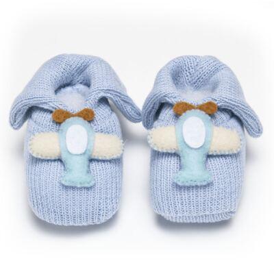 Imagem 1 do produto Sapatinho em tricot Aviãozinho Azul - Roana