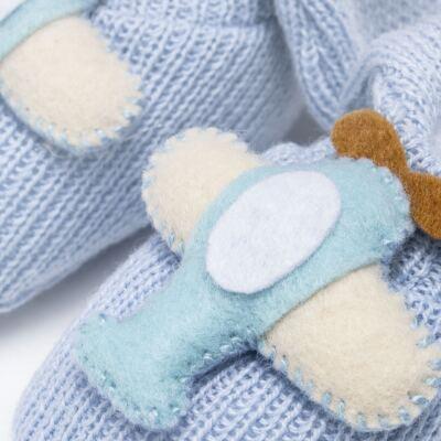 Imagem 4 do produto Sapatinho em tricot Aviãozinho Azul - Roana