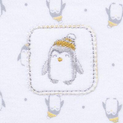 Imagem 3 do produto Macacão longo para bebe em algodão egípcio Penguin - Piu-Piu - PIU912025.001 MACACÃO COMP. PINGUIM -P