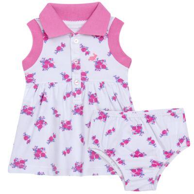Imagem 1 do produto Vestido Polo com Calcinha para bebe em piquet Mimme - Missfloor - 18BC0001.505 BATA POLO REGATA C/ CALCINHA - PIQUET-3-6