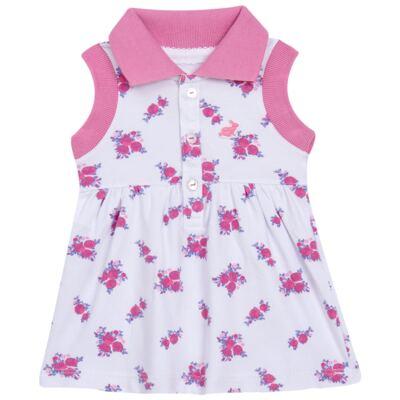 Imagem 2 do produto Vestido Polo com Calcinha para bebe em piquet Mimme - Missfloor - 18BC0001.505 BATA POLO REGATA C/ CALCINHA - PIQUET-3-6