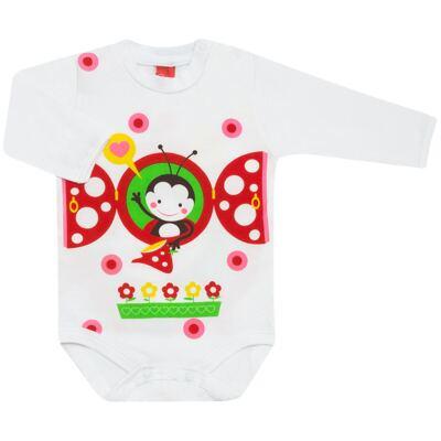 Imagem 1 do produto Body longo para bebe em malha Stica Stica Joaninha - Get Baby - 121170 Body longo em malha Stica Stica Joaninha-EG