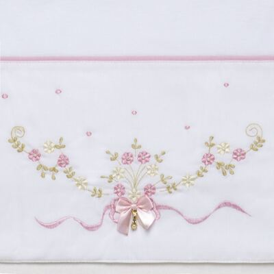 Imagem 3 do produto Jogo de lençol para berço em malha Laços & Strass - Roana