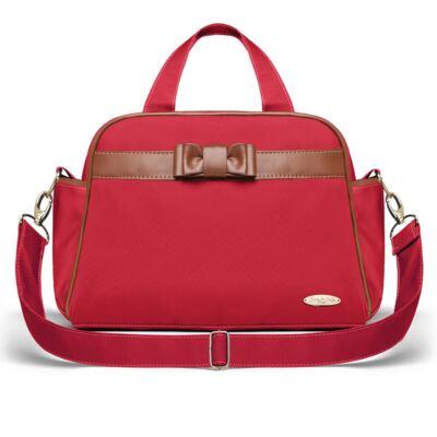 Imagem 1 do produto Bolsa maternidade para bebe London Laço Caramel Vermelha - Classic for Baby Bags
