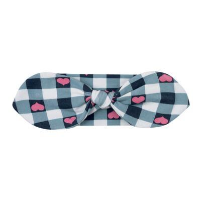 Imagem 1 do produto Faixa de cabelo para bebe em cotton Bubblegum - Livy - LV5054-A.AZ FAIXA DE CABELO COTTON XADREZ AZUL