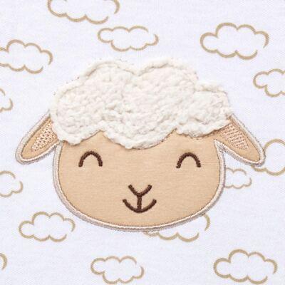 Imagem 3 do produto Jogo Maternidade com Macacão e Manta para bebe em malha Ovelhinha - Pingo Lelê - PL65721 KIT PRESENTE MACACAO E MANTA OVELINHA-P