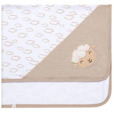 Imagem 4 do produto Jogo Maternidade com Macacão e Manta para bebe em malha Ovelhinha - Pingo Lelê - PL65721 KIT PRESENTE MACACAO E MANTA OVELINHA-P