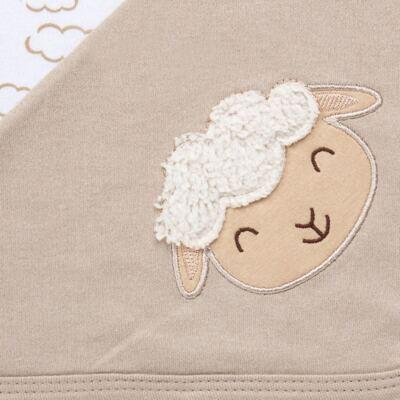 Imagem 6 do produto Jogo Maternidade com Macacão e Manta para bebe em malha Ovelhinha - Pingo Lelê - PL65721 KIT PRESENTE MACACAO E MANTA OVELINHA-P