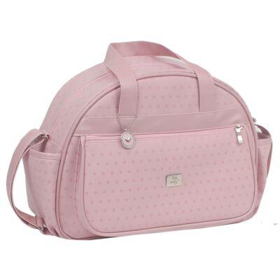 Imagem 2 do produto Bolsa maternidade + Frasqueira térmica Polka Dots Rosa - Hey Baby