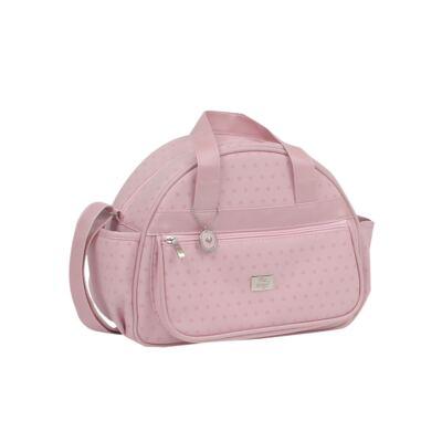 Imagem 3 do produto Bolsa maternidade + Frasqueira térmica Polka Dots Rosa - Hey Baby