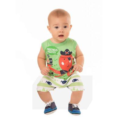 Imagem 4 do produto Regata com Shorts em tactel Green Pirate - Livy