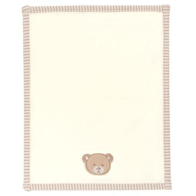 Imagem 3 do produto Kit com 2 fraldinhas de boca para bebe em algodão egípcio c/ jato de cerâmica e filtro solar fps 50 Nature Little Friend Bear - Classic for Baby