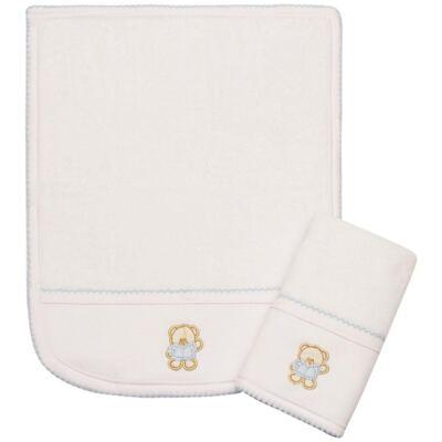 Imagem 1 do produto Kit com 2 fraldas de boca atoalhadas Blue Baby Bear - Classic for Baby