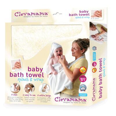 Imagem 2 do produto Kit: 2 Toalhas Mamãe Bebê com capuz Creme e Azul - Clevamama