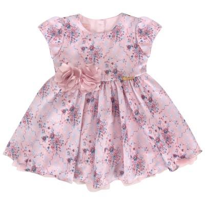 Imagem 1 do produto Vestido para bebe em cetim Sophie - Miss Sweet - SW1031 Vestido Floral Balaozinho-M