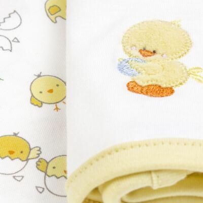 Imagem 5 do produto Kit com 3 fraldinhas de boca para bebe em malha Piu-Piu - Anjos Baby