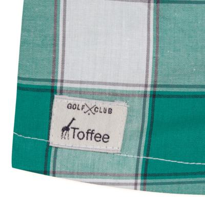 Imagem 3 do produto Macacão Polo para bebe em tricoline Xadrez Verde/Branco - Toffee - 30GP0001.319 MACACÃO M/C GOLA POLO - TRICOLINE-6-9