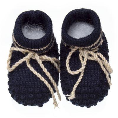 Imagem 1 do produto Botinha em tricot Marinho/Bege - Roana