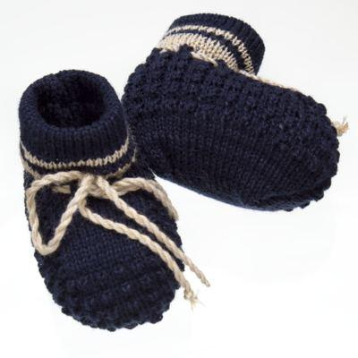 Imagem 3 do produto Botinha em tricot Marinho/Bege - Roana