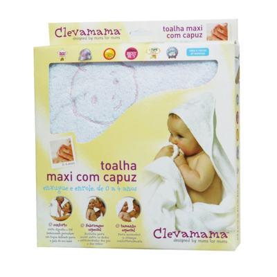 Imagem 3 do produto Kit: 2 Toalhas Max Splash & Wrap Creme e Azul - Clevamama