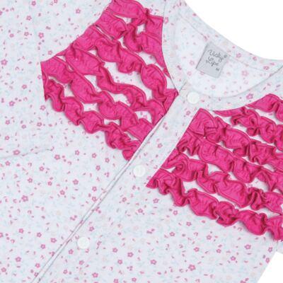 Imagem 2 do produto Macacão longo frufru para bebe em malha Little Cute - Vicky Lipe - 20761362 MACACÃO ML MALHA ELEFANTINHO-M