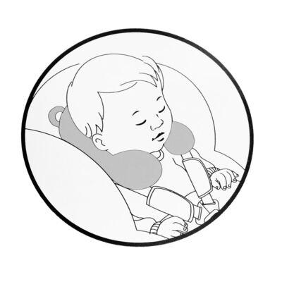 Imagem 2 do produto Descanso de pescoço para bebe atoalhado Ovelhinha Rosa - Petit