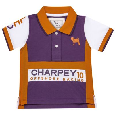 Camiseta Polo em piquet Racing - Charpey
