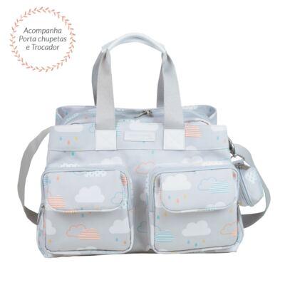 Imagem 2 do produto Bolsa para bebe Toulouse + Bolsa térmica organizadora Nuvem - Masterbag