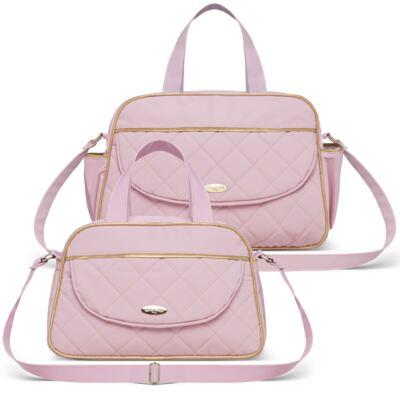 Imagem 1 do produto Bolsa + Frasqueira para Bebê Mosaic Rosa - Classic for Baby Bags