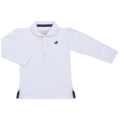 Imagem 1 do produto Polo manga longa em piquet Branca - Missfloor