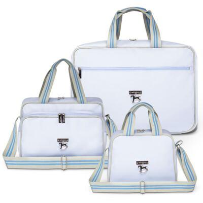 Imagem 1 do produto Mala maternidade + Bolsa + Frasqueira para bebe Clean Collection Azul - Masterbag