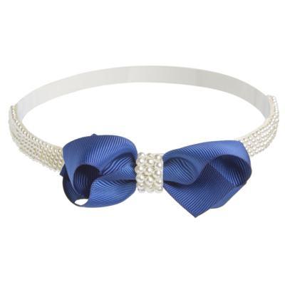 Imagem 1 do produto Faixa Laço & Mini Pérolas Azul - Roana