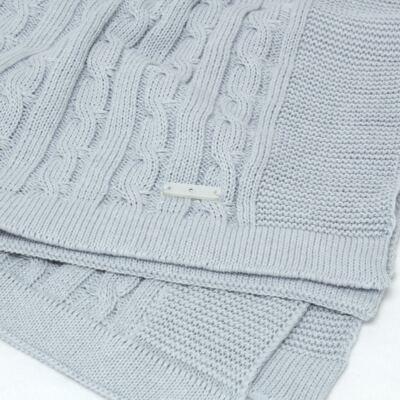 Imagem 3 do produto Manta em tricot Azul - Baby Classic