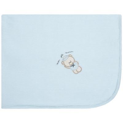Imagem 1 do produto Manta forrada em malha Blue Captain - Classic for Baby