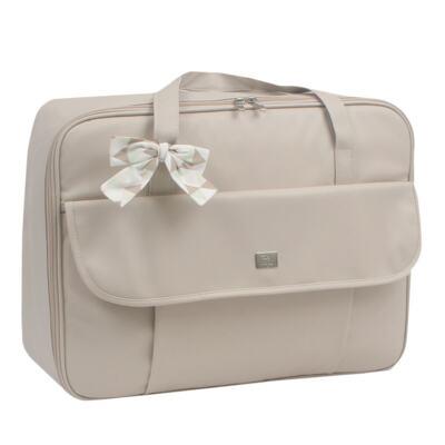 Imagem 2 do produto Mala maternidade + Bolsa + Frasqueira térmica + Mochila + Porta Mamadeira Laço Marfim - Hey Baby