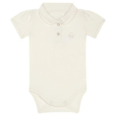 Imagem 2 do produto Body Polo com Shorts para bebe em suedine Florale - Grow Up - 04080008.0004 CONJUNTO FLOWERY CREME-M