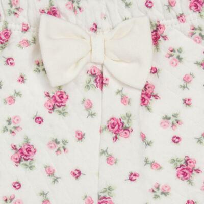 Imagem 5 do produto Body Polo com Shorts para bebe em suedine Florale - Grow Up - 04080008.0004 CONJUNTO FLOWERY CREME-M