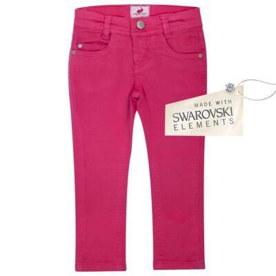 Imagem 1 do produto Calça Skinny em sarja Swarovski Pink - Missfloor - 1730M1757 CALÇA SKINNY PINK SARJA SARJA-2