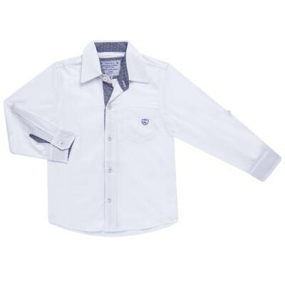 Imagem 1 do produto Camisa manga longa para bebe em tricoline Branca - Sylvaz - SZ627 CAMISA INFANTIL ML BRANCO-3