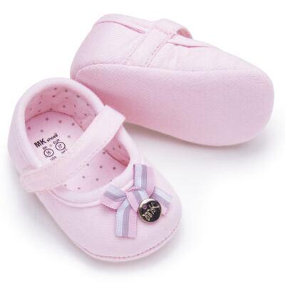 Imagem 2 do produto Sapatilha laço para bebe em suedine Rosa bebê - Mini & Kids - 510.008.2801999 SAPATILHA VELCRO 0 MK-16