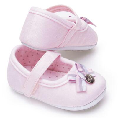 Imagem 3 do produto Sapatilha laço para bebe em suedine Rosa bebê - Mini & Kids - 510.008.2801999 SAPATILHA VELCRO 0 MK-16