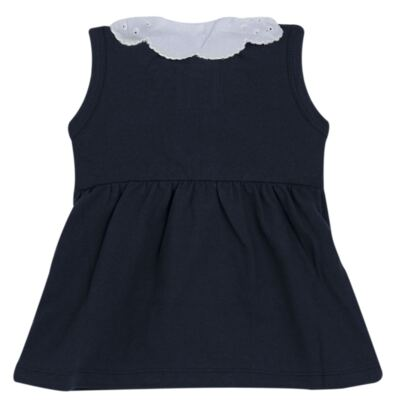 Imagem 4 do produto Vestido curto com Calcinha para bebe em piquet Marinho - Missfloor - 18VC0001.365 VESTIDO POLO REGATA C/CALCINHA-PIQUET-0-3